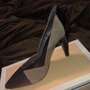 Nicole Miller suede and patent shoes